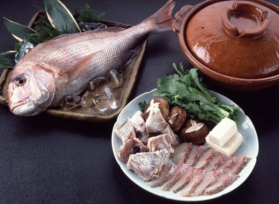 春のお鍋-明石産の鯛なべ-